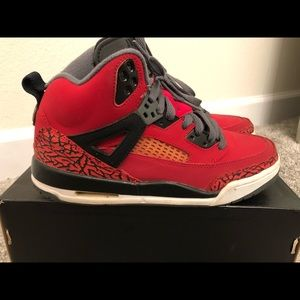 "Jordan Shoes - Jordan Spizike ""Toro Red"" - Size 6.5 Youth"
